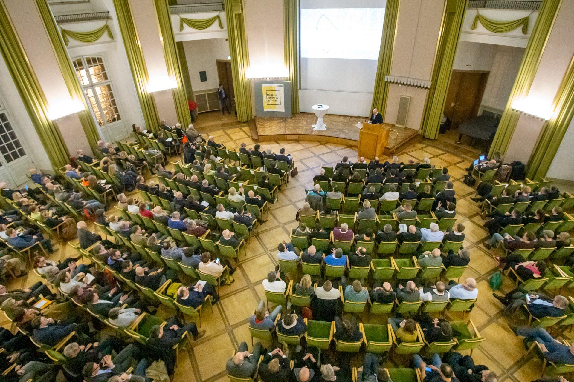 Der Musik-Campus als Teil der Stadtentwicklung. Präsenation in der Aula des Schlosses am 15.1.2020, Foto: Jörg Kersten